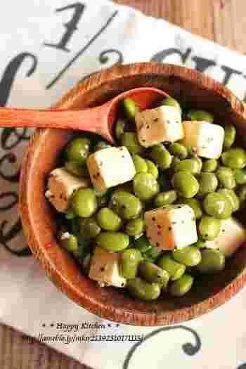 枝豆が地中海風の上品なメニューに早変わり。