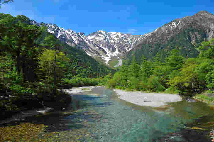 長野県西部の梓川上流の景勝地として知られている「上高地」。
