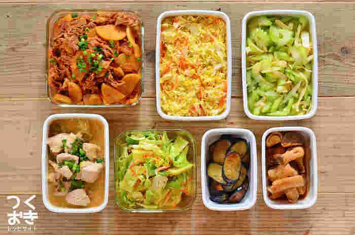 「副々菜」まで揃えるのは大変!という方は、「副菜」に使う野菜の種類を増やしたりすることで補いましょう。また、常備菜など作り置きがあれば忙しい朝でも「副々菜」まで揃えられるのでぜひチャレンジしてみて。