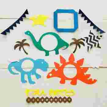 お子様が主役の写真が多いときは、折り紙や色画用紙を使ってもユニークですね!お子様と一緒に楽しみながら作ると、より思い出に残りそう♪