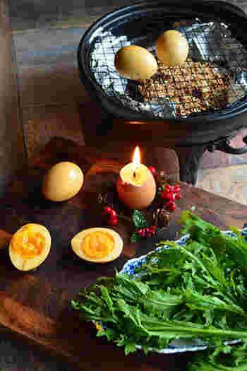 難しそうな燻製も土鍋で簡単にできちゃうんです!! 好きなチップでこだわりの自家製燻製☆たまごやチーズなどなんでも作れます!ワンランクアップした大人の味!