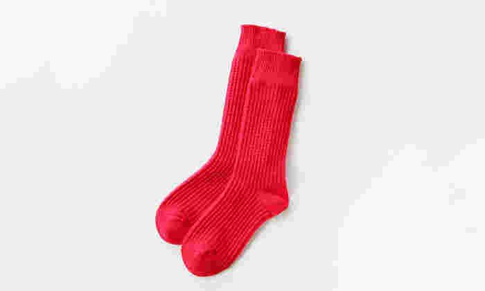 ふかふか感が心地いいサーマルソックス。肌触りがいいので、お家用靴下として使うのもいいですね♪