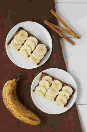 ハチミツとバナナの甘み、シナモンの香りが相性抜群! バナナは栄養価が高く、エネルギーに変わるのが早いため、忙しい朝食時にお手軽にパワーチャージできますよ。