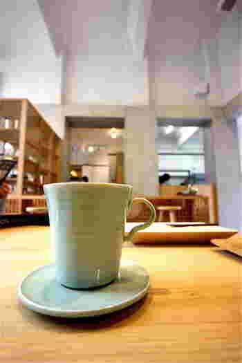 カップの縁の口当たりがよく、コーヒーが美味しく頂けると、五代目お気に入りのカップとソーサー。