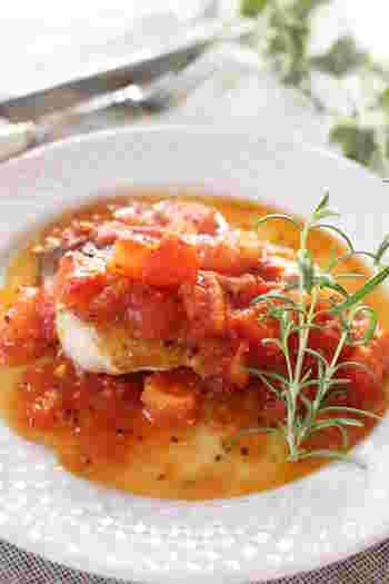 洋食なら、旨味とさっぱり感を併せ持つトマトと合います。生のトマトを使うのが一番ですが、カットトマトでも代用できそうですね。ワインのおつまみとしてもおすすめです♪