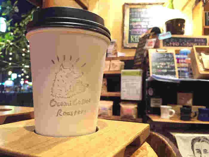 テイクアウトのカップも可愛い。のんびりと美味しいコーヒーを飲みたいとき、お買い物のひと休み…いろいろなシーンで利用できそうですね。