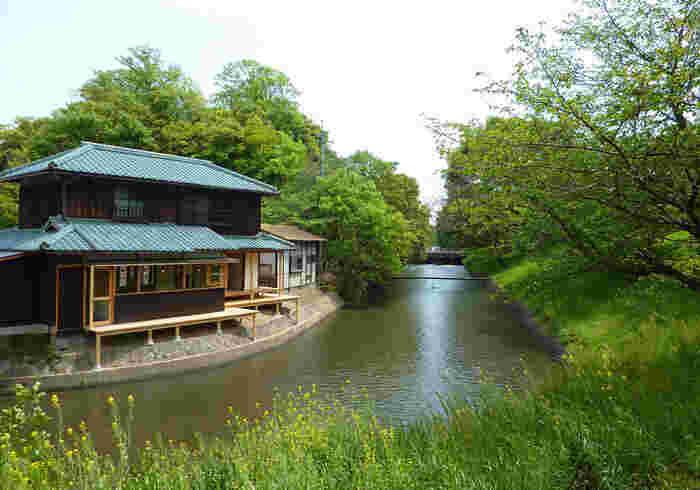 2010年。桜の名所として知られる酒津公園のほど近くに、三宅商店の2号店としてオープンしたのが「水辺のカフェ三宅商店」です。
