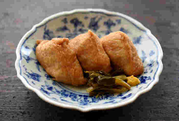 こちらは、出汁の風味が香るほんのり甘い上品ないなり寿司です。うどんやおそばのランチ添えたり、春のお花見や行楽のお弁当にもぴったりですよ♪