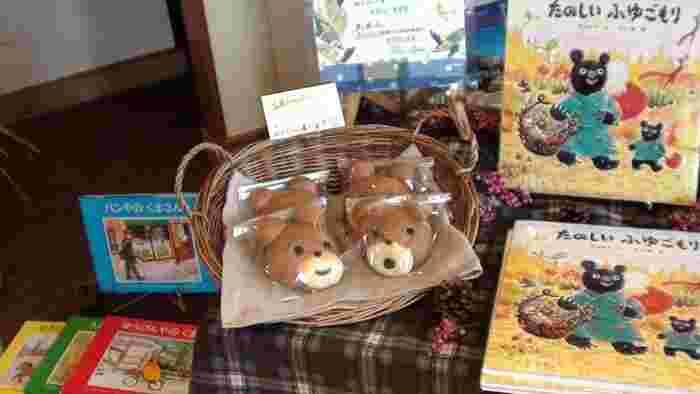 動物をモチーフにした「キャラクターパン」は、子供に人気です。よく見ると、ひとつひとつ表情が違っていてどれもキュート。