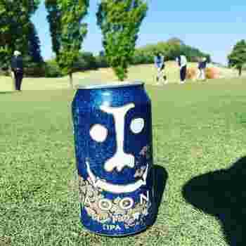 ユーモラスな鬼の顔が描かれた「インドの青鬼」。にっこり微笑んでいる上、牙もちょこんとしか生えていなくて、ずいぶんかわいらしい鬼さんです。