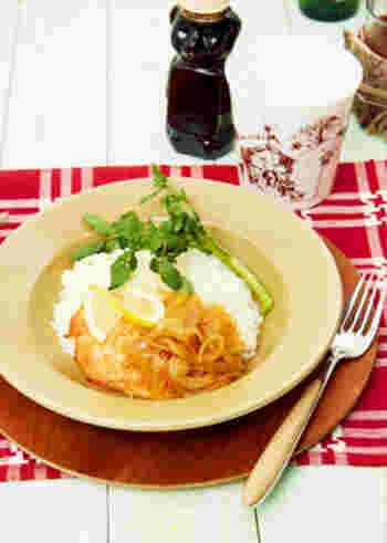 お肉だけでなく、魚との相性も良いメープルシロップのグリル。カフェ風にワンプレーorボウルにのせるだけでおしゃれに♪一皿で満足できるのでランチにもディナーにもおすすめです。