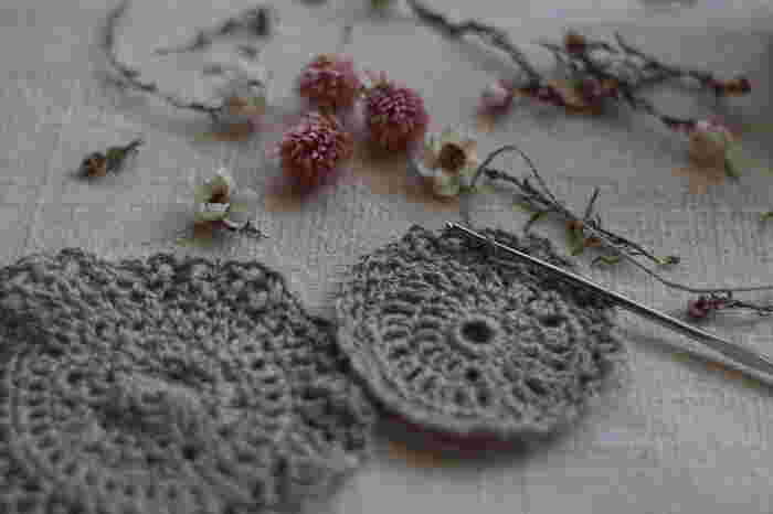 編み物初心者さんでもチャレンジできる♪基本の編み方、作品集。
