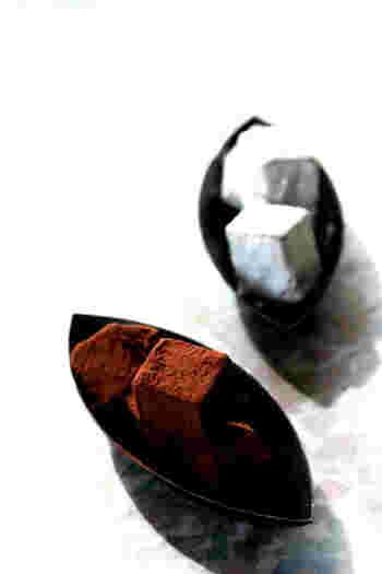 フランボワーズが甘酸っぱい生チョコレート。香りも良く大人のバレンタインにぴったりです。