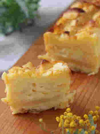 ガトー・インビジブルは、りんごを使ったレシピが基本となります。初心者さんでも気軽に挑戦できますよ。