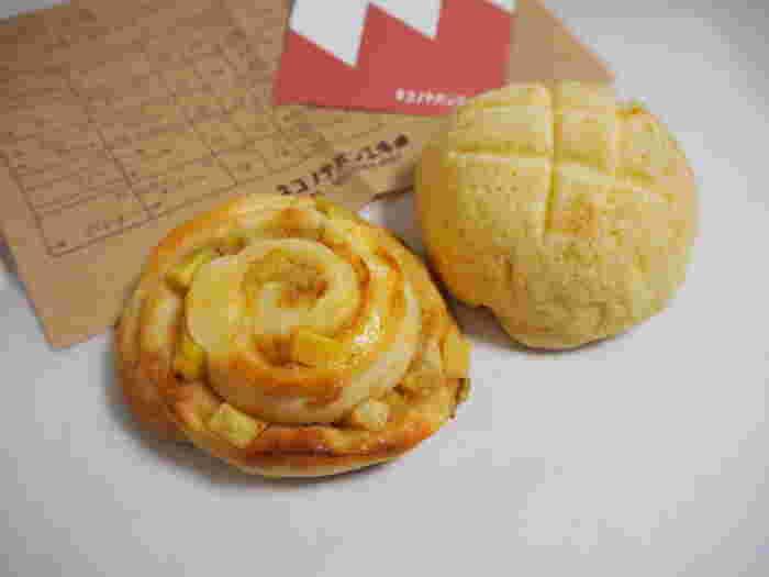 サツマイモメープルバターロールとメロンパン♪
