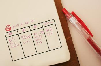 手帳に押して使うスタンプの分割表。ToDoリストや食事の記録…いろいろな使い方ができます。縦・横どちらでも使えるので便利!