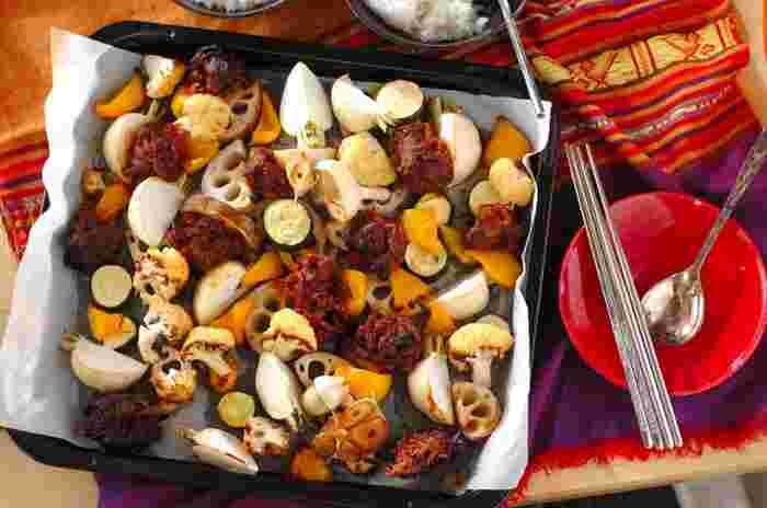 コチュジャンで下味をつけた牛肉がご飯にもぴったり!食がすすむぎゅうぎゅう焼きは男性にも喜ばれるのでおすすめです。