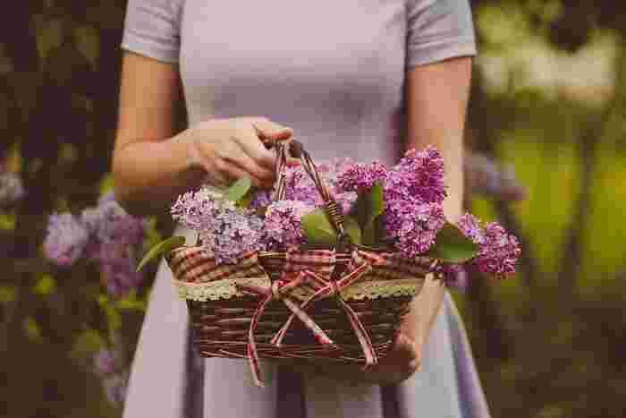 季節の花のなかでも切り花にしたときに枯れにくい花や、ドライフラワーによく使われている花がおすすめです。枯れたときに色合いや型がきれいなバラ・ミモザ・ラベンダー・千日紅・スターチス・かすみ草あたりが定番で初心者の方でもおすすめです。