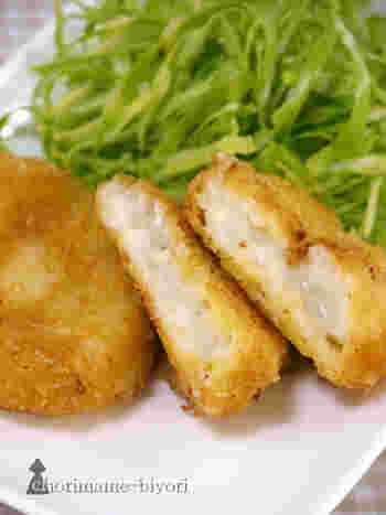 コロッケのタネとして使用するのが難しいお魚も、タラを選べば美味しく仕上がります。バターの分量を控えてスキムミルクを加えることで、コクとカルシウムがアップ◎年間を通して流通している塩タラを使うことで、味つけも控えめに抑えることができます。