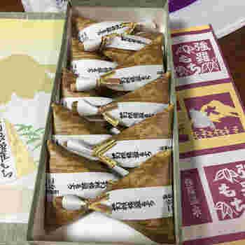 『箱根強羅もち』は、強羅を代表する手作りの銘菓。駅から徒歩で3分ほどの場所にある老舗和菓子店「石川菓子舗」の名物です。