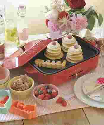 パンケーキを焼いて、好きな具を乗せて、みんなでパーティー♪ こんなオシャレで楽しいパーティー、憧れますね!