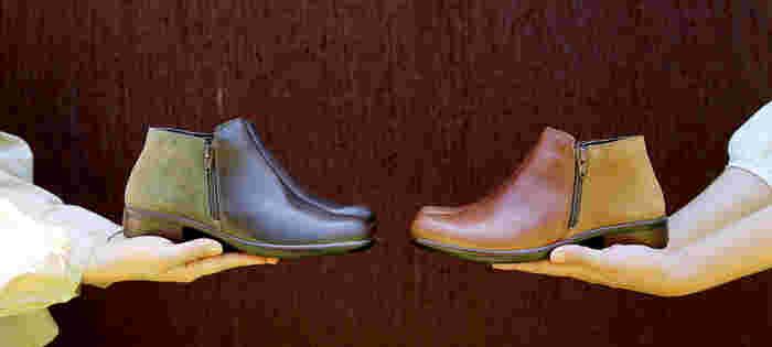 パンツにもスカートにもバランスよく合わせられる絶妙な筒丈と、足元をかっこよく引き締めるスタイリッシュなフォルムも特徴です。カラーは「Maple-Desert」と「Pecan-Olive」の2色展開。コーディネートに合わせて、ぜひお気に入りの一足を選んでみてはいかがでしょうか。