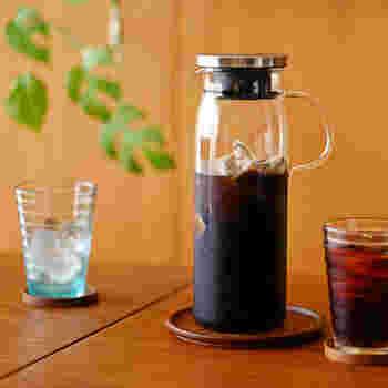 すっきりとした飲み心地。水出しコーヒー・お茶グッズ
