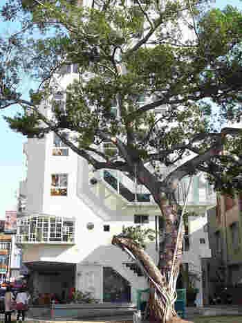 最後に、台南観光がより楽しくなる素敵なホテルを2ヶ所ご紹介します。ひとつめのホテルは、神農街の近くにある「佳佳西市場旅店(ジャー ジャー アット ウェスト マーケット ホテル)」です。スタイリッシュな白い建物が印象的ですね。