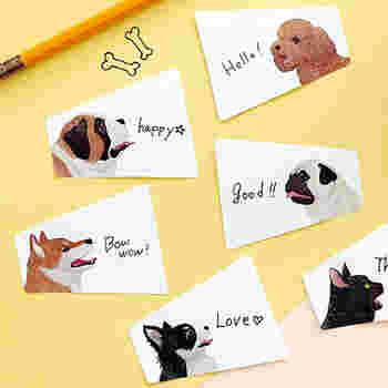 こちらは犬や猫が話しているようにメモが書ける付箋です。ちょっと言いにくいことを誰かに伝えたいときにも使えます。