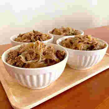 たんぱく質と鉄分が豊富な牛肉を手軽に摂れて子どもにも大人気なメニューです。子ども用に甘めに作ってあげると、より食が進みます。
