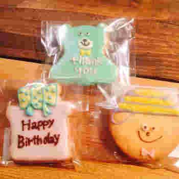 こんなにキュートなアイシングクッキー。プレゼントに添えて渡したらとっても喜ばれそうですね♪食べるのがもったいない・・・!