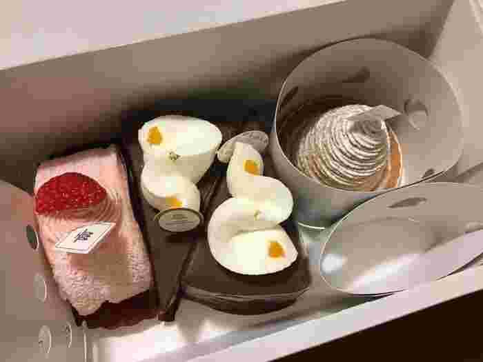 色鮮やかで、まわりをぱっと明るくしてくれる、おしゃれなケーキがたくさん。仕事先への手土産、大切な方への御礼など、さまざまなシーンで華を添えてくれる、頼れるケーキ屋さんです。