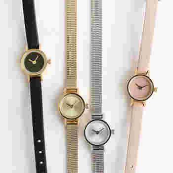 シンプルなデザインと生活に添った機能性のあるアイテムを数多く生み出すブランド「StitchandSew」。 無駄なものを一切省いたシンプルなcircle Watchは、その名のとおり、ケースと文字盤が生み出す幾重ものサークルが印象的。