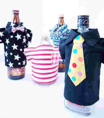 ボトルに可愛らしい洋服を着せればみんなの注目間違いなしですね。シーンに合わせた洋服を選ぶと良さそうです。