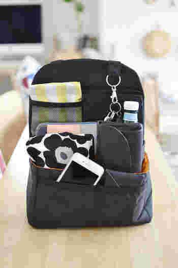 収納力抜群で、たくさんのものが入るリュックサック。深さがあって、大きく口が開くことから、ついついものを入れすぎてしまう傾向にありますよね。そんな時に便利なのが、リュック用のバッグインバッグです。