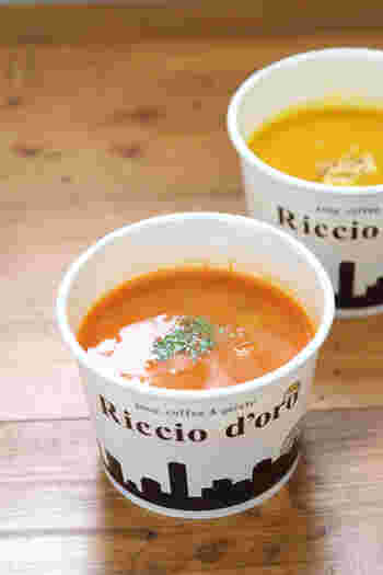 手間暇かけて作られるスープは絶品。 素材の特長が存分に生かされた優しさが、ホッとさせてくれる。 ランチやスープの後にデザートにジェラートなど楽しみ方は何通りも。