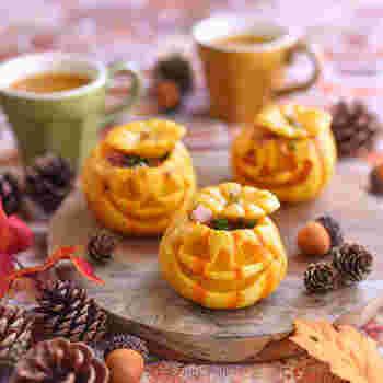 ミニかぼちゃでかわいくデコレーションされたグラタンコロッケ。ちょっとした工夫で、パーティーが盛り上がるレシピって結構あります。