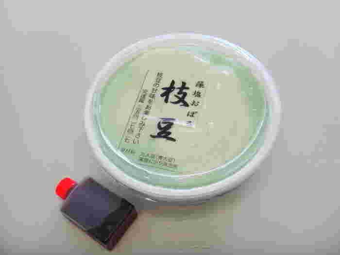 こちらのお店には季節のおぼろ豆腐があり、こちらは枝豆の藻塩おぼろ豆腐。枝豆のしっかりした味は日本酒のお供にもよく合いそうです。