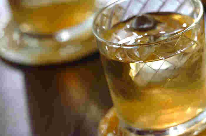 ジンジャーの風味とウイスキーの香りで、体がじんわり温まるジンジャーウイスキー。