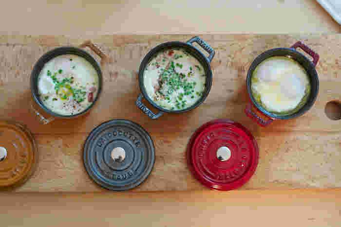 IHをはじめ、オーブン調理などあらゆる熱源に対応するので、焼き物、煮物、揚げ物などどんな料理もこれひとつでOK!可愛いルックスで、おしゃれな食卓の演出にも役立ちます。
