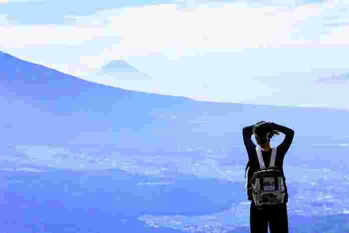 車山山頂からの富士山。