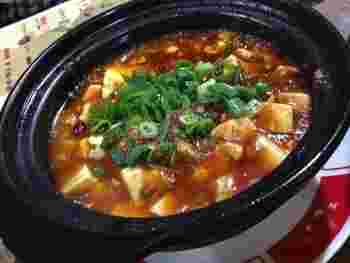 麻婆豆腐は、シメにもおすすめです。