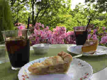 スイーツのおすすめはアップルパイ。シナモンが効いたリンゴがゴロゴロ入っています。甘過ぎずリンゴの酸味も感じられて、コーヒーとの相性もばっちりです!