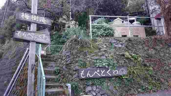 田辺市にあるパン屋さん「もんぺとくわ」。 外国語のような響きの名前の由来は、そのまま「もんぺ」と「鍬」から来ているのだとか。
