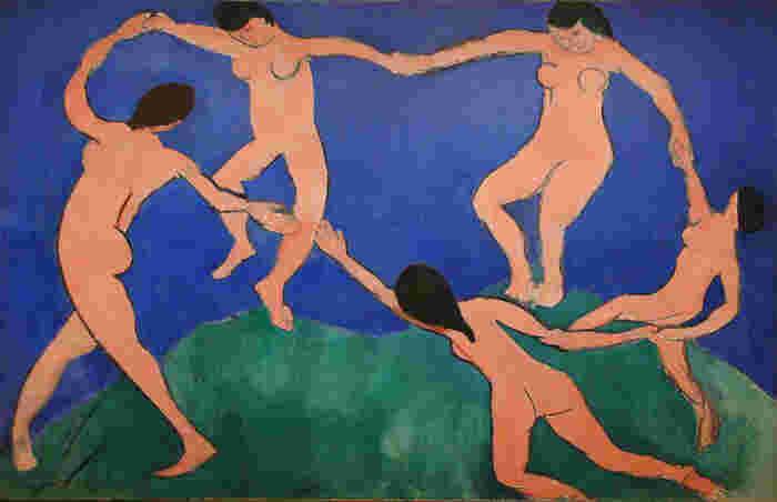 MoMAに所蔵されている有名な「ダンス」。音楽やダンスはマティスの作品の中で多く描かれているテーマです。わずか3色で描かれたこちらの作品は簡潔ではありますが、躍動感を感じます。