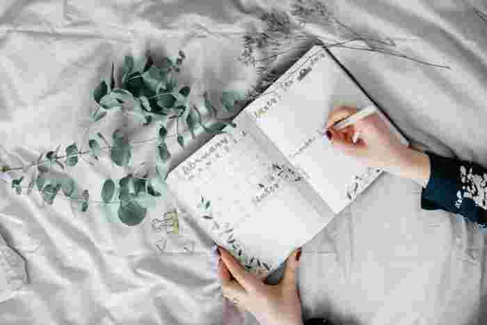 旅行が充実するようにスケジュール表はもちろん、行きたいところや食べたいもの、やりたいことなどの「wish」リストを書き込みましょう。他にも観光情報や現地の情報を書き込むこともおすすめです。