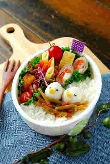 お皿やお弁当の片隅に、小さなうずらの卵があるだけで、心がちょっとほっこりしませんか?本格的なキャラ弁は難しくてお手上げという方にもおすすめ。ちょっとした遊び心も交えながら、日々の料理に楽しく生かしてみてください♪