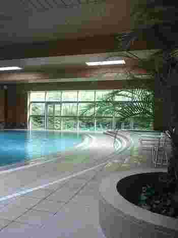 室内プールにはジャグジーも。子供用のスライダーやジャグジーもあるので、大人から子供まで楽しく過ごせます。