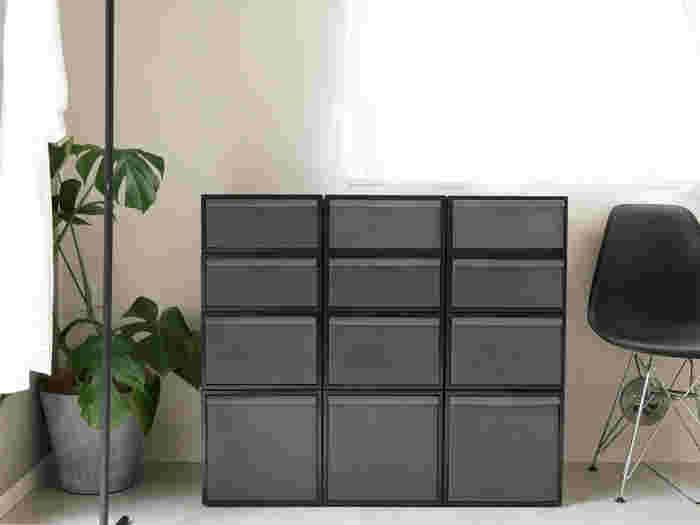 組み合わせ自由自在。ボックスを使った収納アイデア
