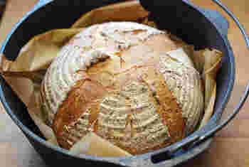 カンパーニュだってこの通り。パン屋さんと遜色ない仕上がりに驚くはず。
